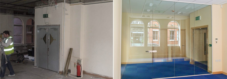 before and after refurbishment work